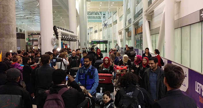 First Syrian Refugee family landed in Toronto