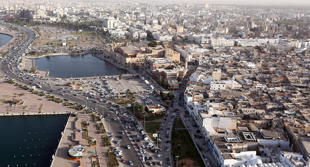An aerial shot taken from a helicopter shows the Libyan capital Tripoli. (File)