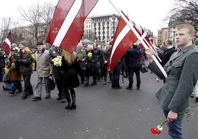 Waffen-SS veterans march in Riga. File photo