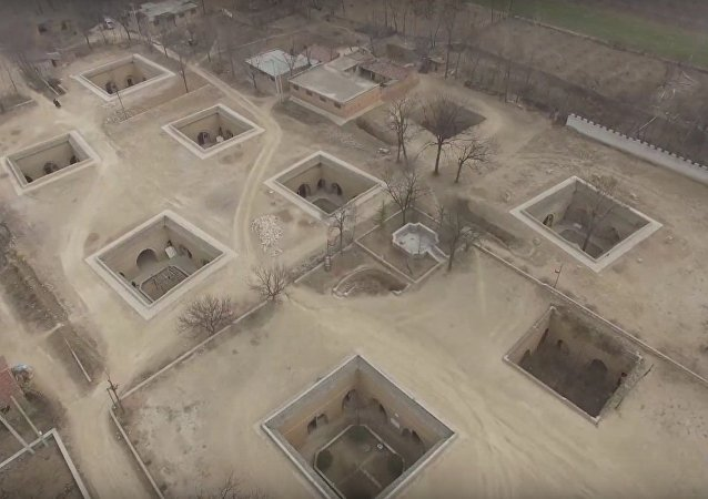Bird's Eye View of Underground Chinese Village