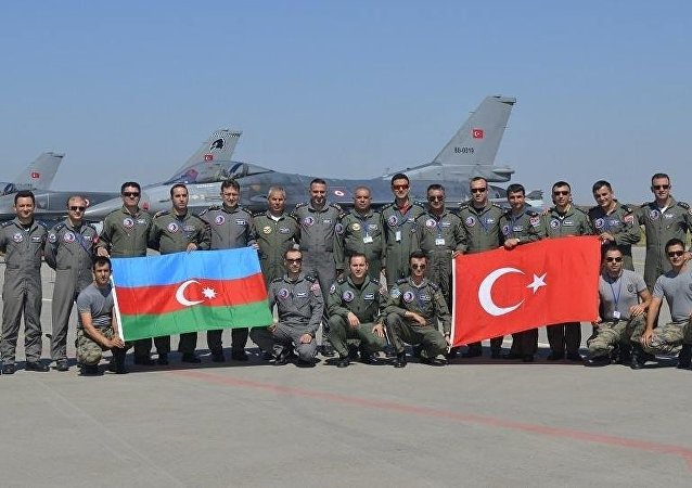 Turkey and Azerbaijan joined air force drills. File photo