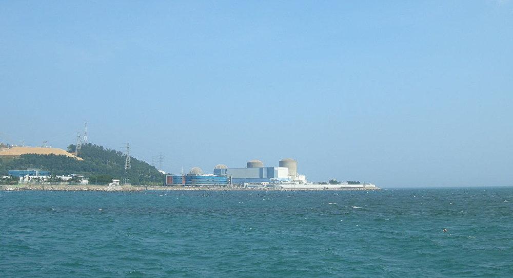 Kori Nuclear Power Plant, Reactors Kori 1, Kori 2, Kori 3, Kori 4 from right to left.