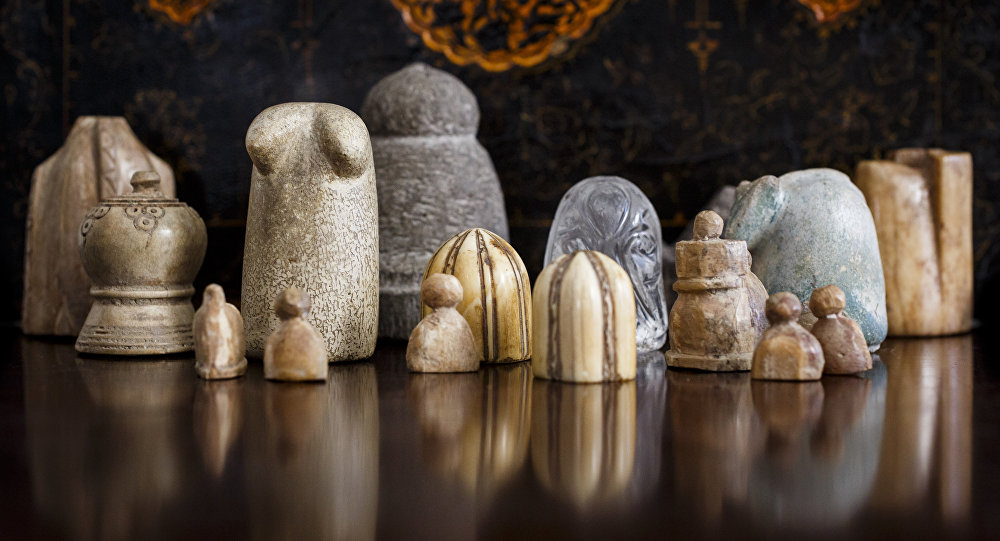 A collection of early chess pieces auctioned by Sotheby's