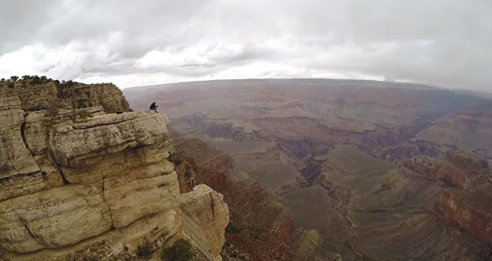Grand Canyon Drone Selfie