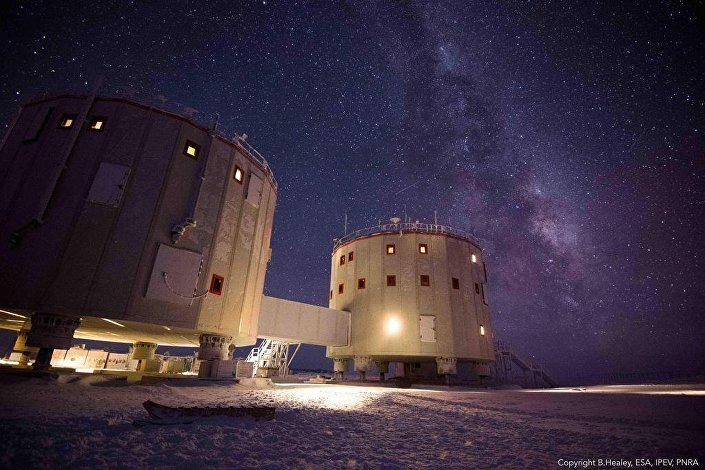Concordia research station in Antarctica is a place of extremes. In winter no sunlight is seen for four months.