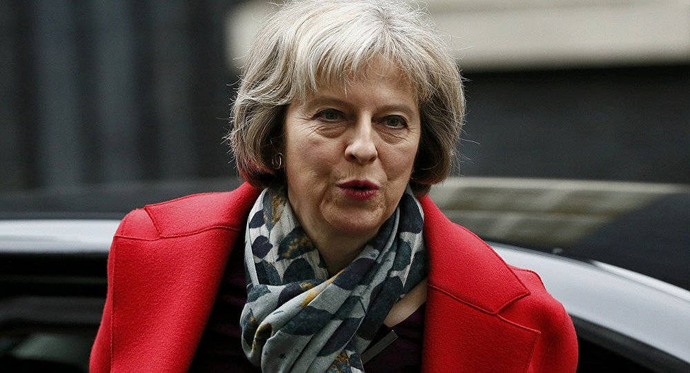 Britain's Home Secretary Theresa May arrives to attend a cabinet meeting at Number 10 Downing Street in London, Britain March 1, 2016