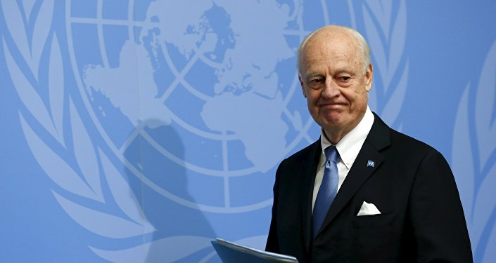 UN mediator for Syria, Staffan de Mistura.