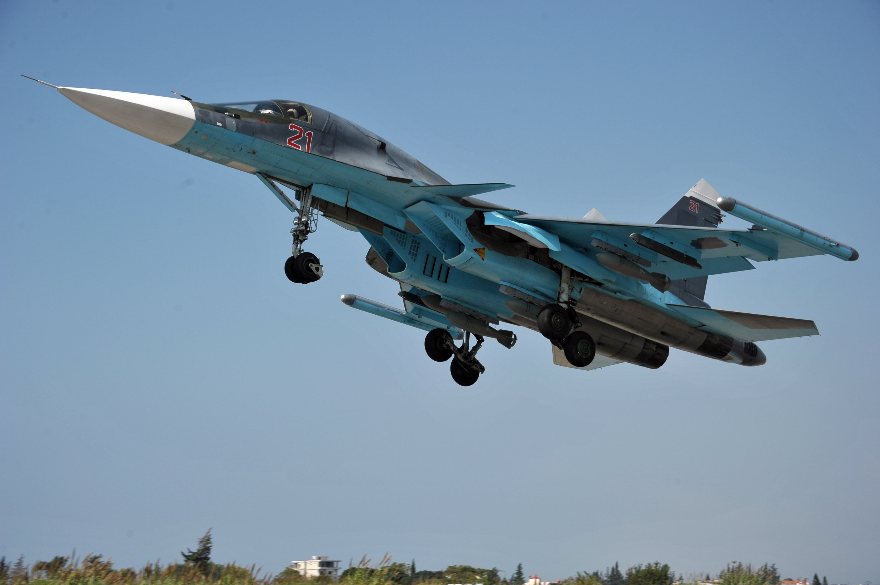 Russian aircract at Hemeimeem Air Base in Syria