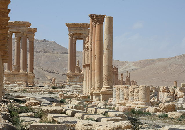 Historic site in Palmyra destroyed in military operations.