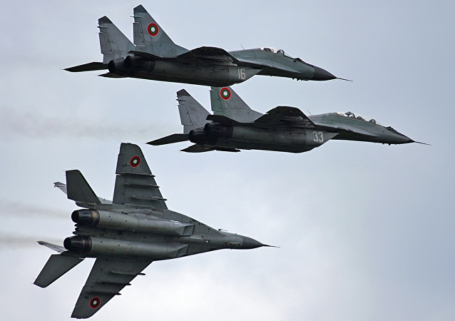 A squadron of Bulgarian Air Force MiG-29