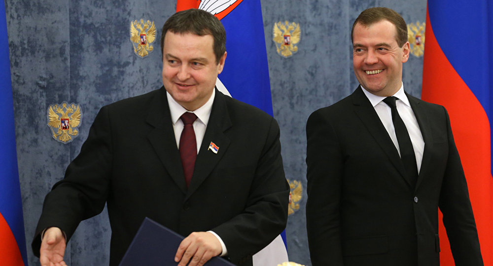 Dmitry Medvedev meets with Ivica Dacic (File)