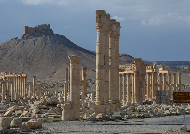 Ancient Palmyra after the city's liberation from terrorists.