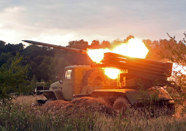 A BM-21 Grad multiple rocket launcher