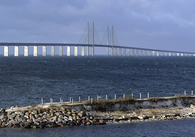 The Oresund bridge pictured from Lernacken on the Swedish side of the Oresund strait November 12, 2015.