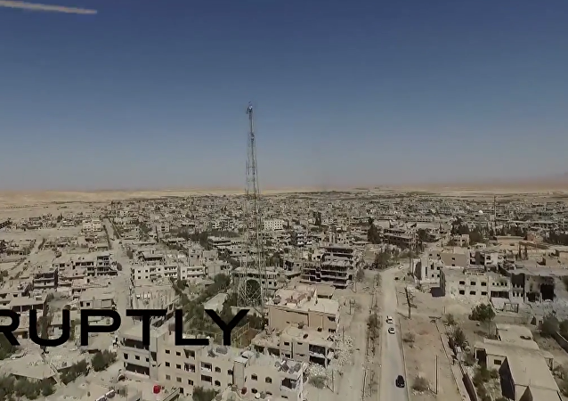 Syria: Drone shows al-Qaryatain following liberation from IS