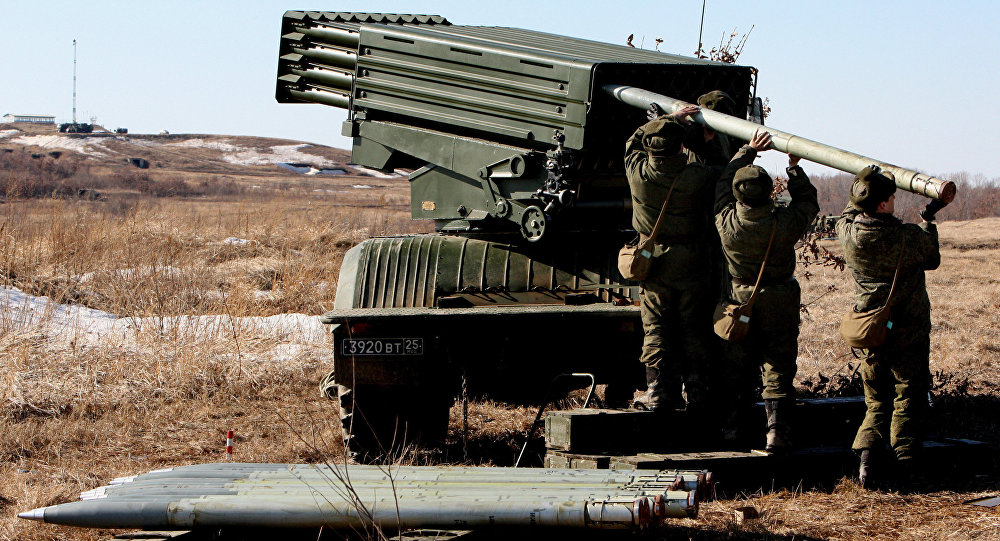 Artillery drill held at Sergeyevsky base in Primorsky Territory