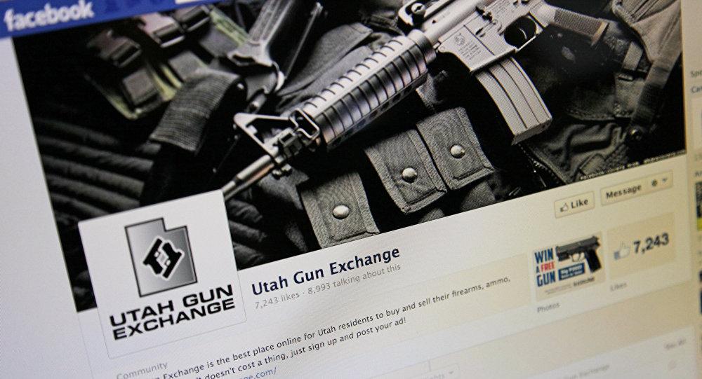The Facebook page of the Utah Gun Exchange is seen Monday, Dec. 24, 2012