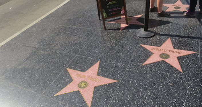 Donald Trump Star at Hollywood Walk of Fame