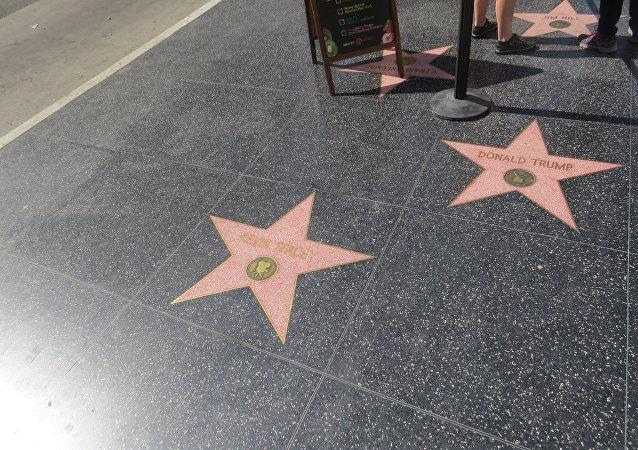 Donald Trump Star at Hollywood Walk of Fame
