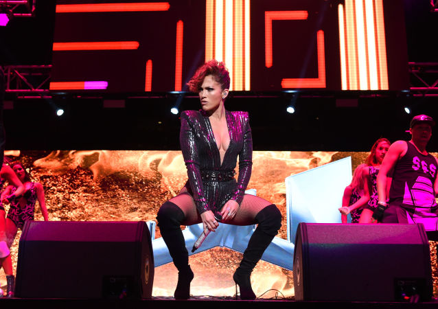 Musician Jennifer Lopez performs at Megaton Mundial de Polito Vega at Madison Square Garden in New York.