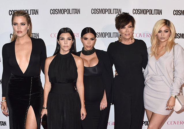 Khloe Kardashian, from left, Kourtney Kardashian, Kim Kardashian, Kris Jenner and Kylie Jenner in West Hollywood, California.