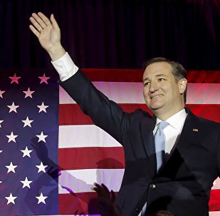 US Republican presidential candidate Ted Cruz arrives at his Wisconsin primary night rally in Milwaukee, Wisconsin, United States, April 5, 2016.