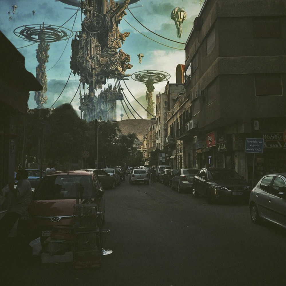Alien Invasion: An Artist's Surreal Take on the Devastation of Damascus