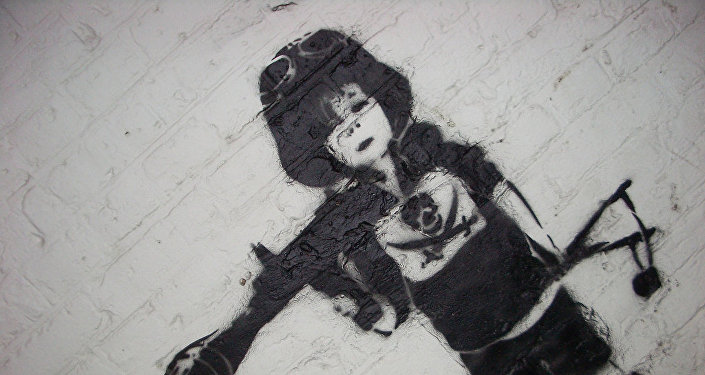 Child Soldier Graffiti