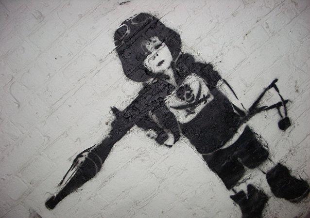Child Soldier Graffiti