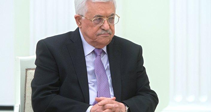 Russian President Vladimir Putin meets with Palestinian Authority President Mahmoud Abbas
