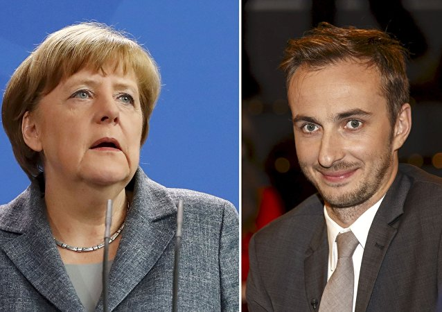 A combination of pictures shows German Chancellor Merkel and German comedian Boehmermann.