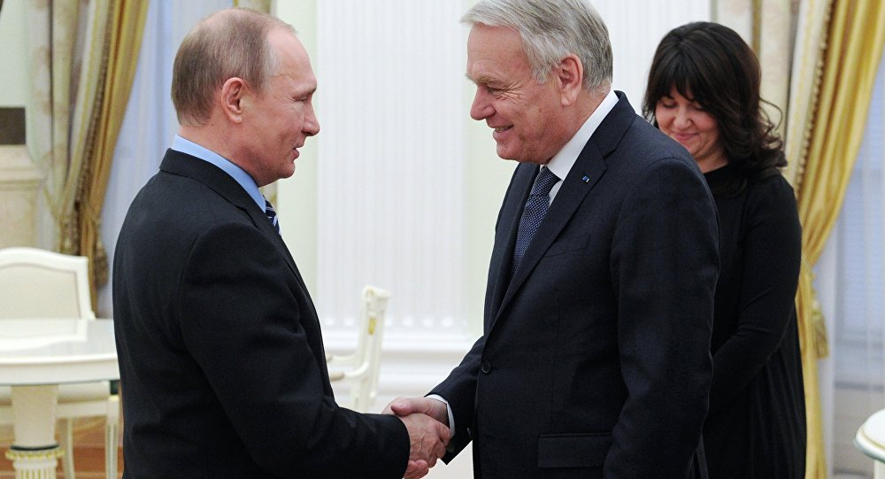 Vladimir Putin meets with French Foreign Minister Jean-Marc Ayrault