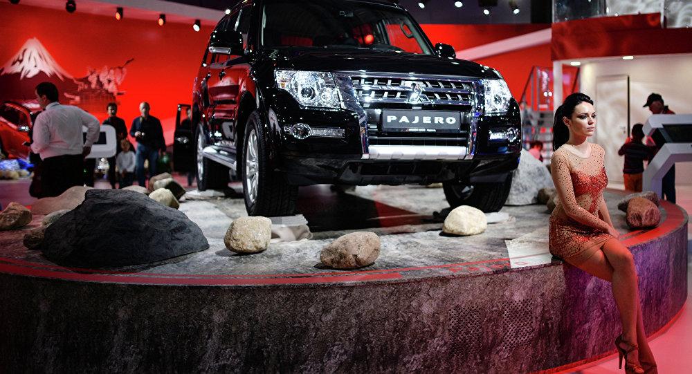 A file photo of a Mitsubishi Pajero at Moscow International Automobile Salon