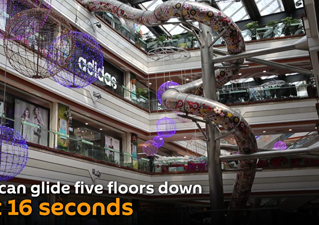 Pure excitement: a 5-storey slide in Shanghai
