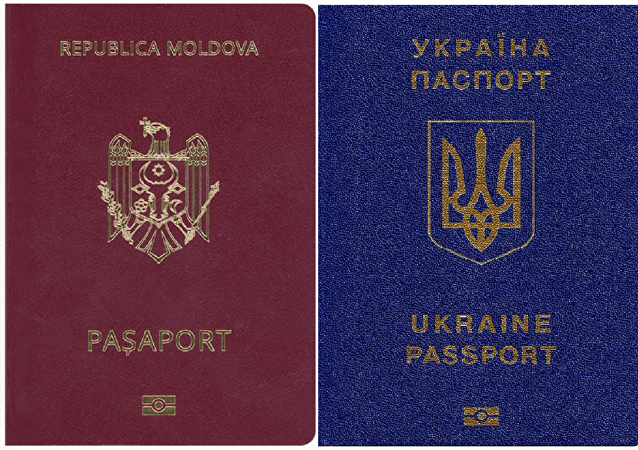 Moldovan and Ukrainian passports
