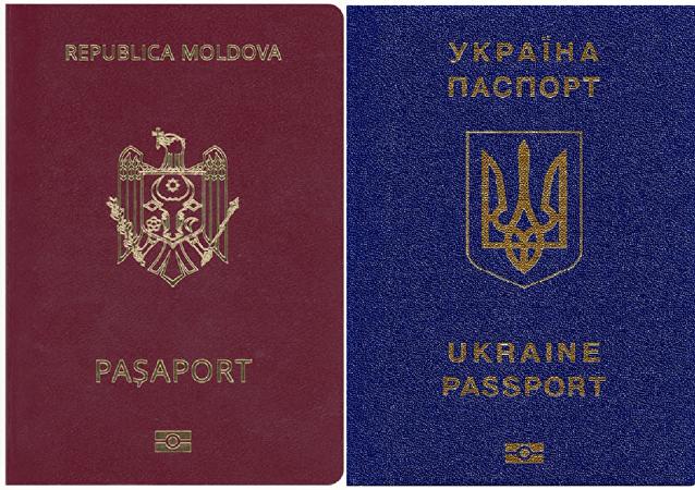 Moldovan and Ukrainian passports