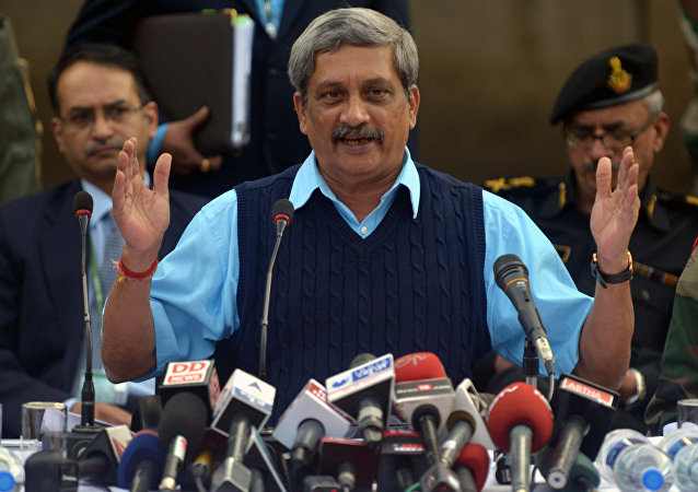 Indian Defence Minister Manohar Parrikar