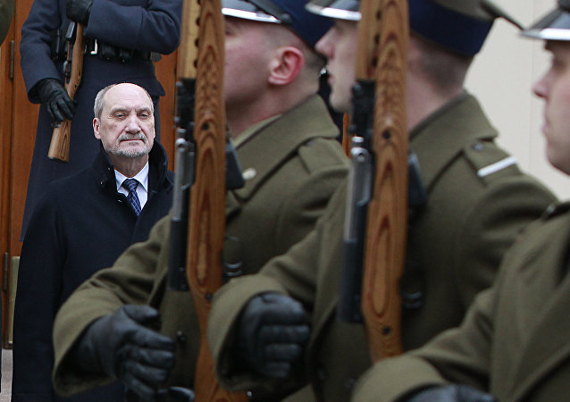 A file photo of Poland's Defense Minister Antoni Macierewicz