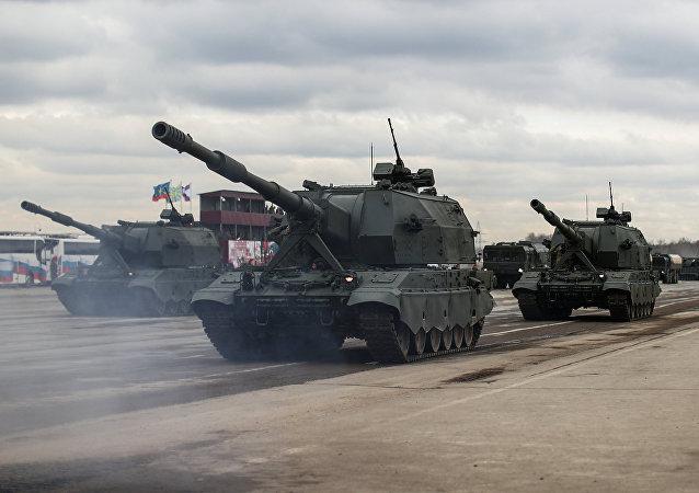 Self-propelled artillery systems Koalitsiya-SV