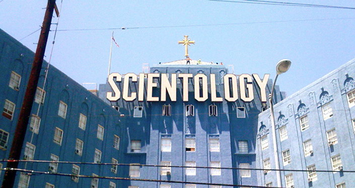 A Scientology building in Los Angeles