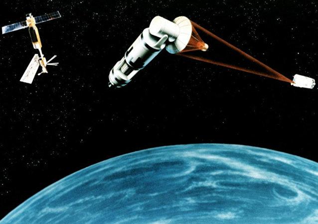 Space Laser Satellite Defense System Concept