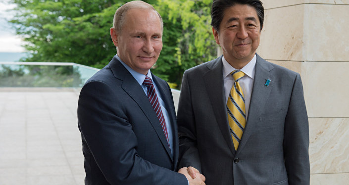 President Putin meets with Japan's Prime Minister Shinzo Abe