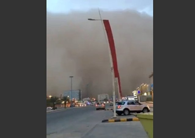 Dust wave strikes Saudi village