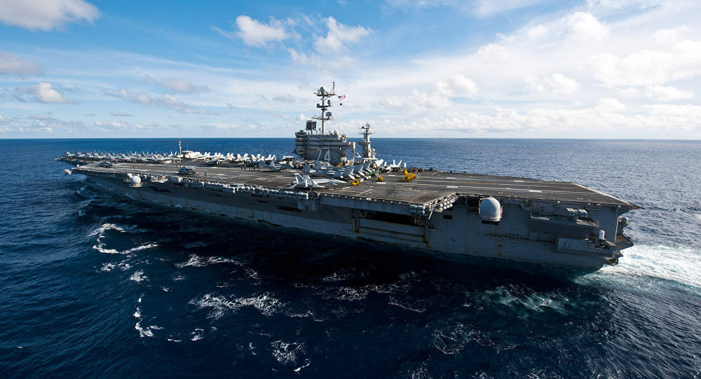 The Nimitz-class aircraft carrier USS John C. Stennis