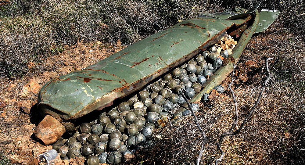NGO believes Russian Federation using cluster bombs in Syria