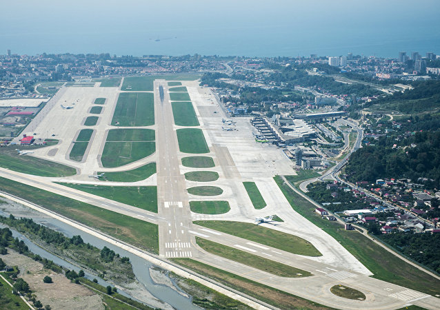 A view of the Sochi Airport