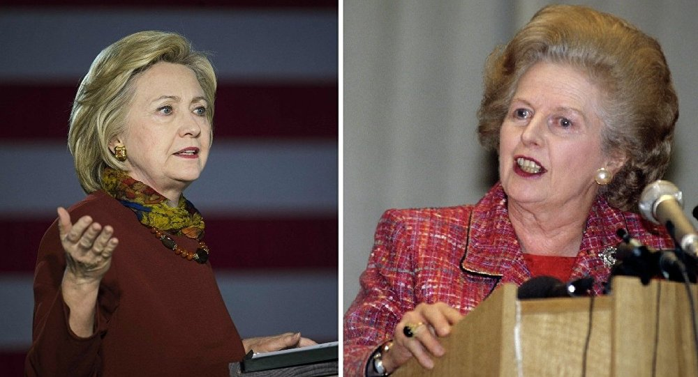 Hillary Clinton and Margaret Thatcher