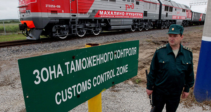 Railway checkpoint between the Russian station Makhalino and Chinese station Hunchun. File photo