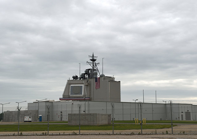 The US anti-missile station Aegis Ashore Romania is pictured at the military base in Deveselu, Romania