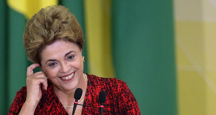 Former president of Brazil Dilma Rousseff.